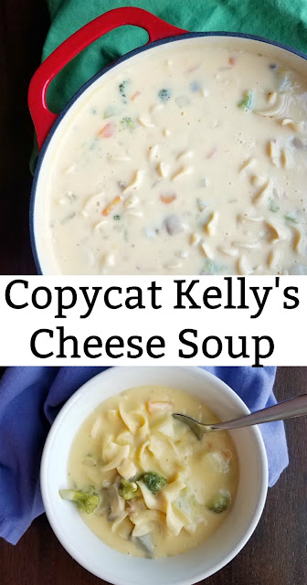 This Cheese Soup is loaded with vegetables, potatoes and pasta. It is a copycat from a local restaurant and it is a regional favorite!