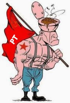 Resultado de imagem para militonto petista charge