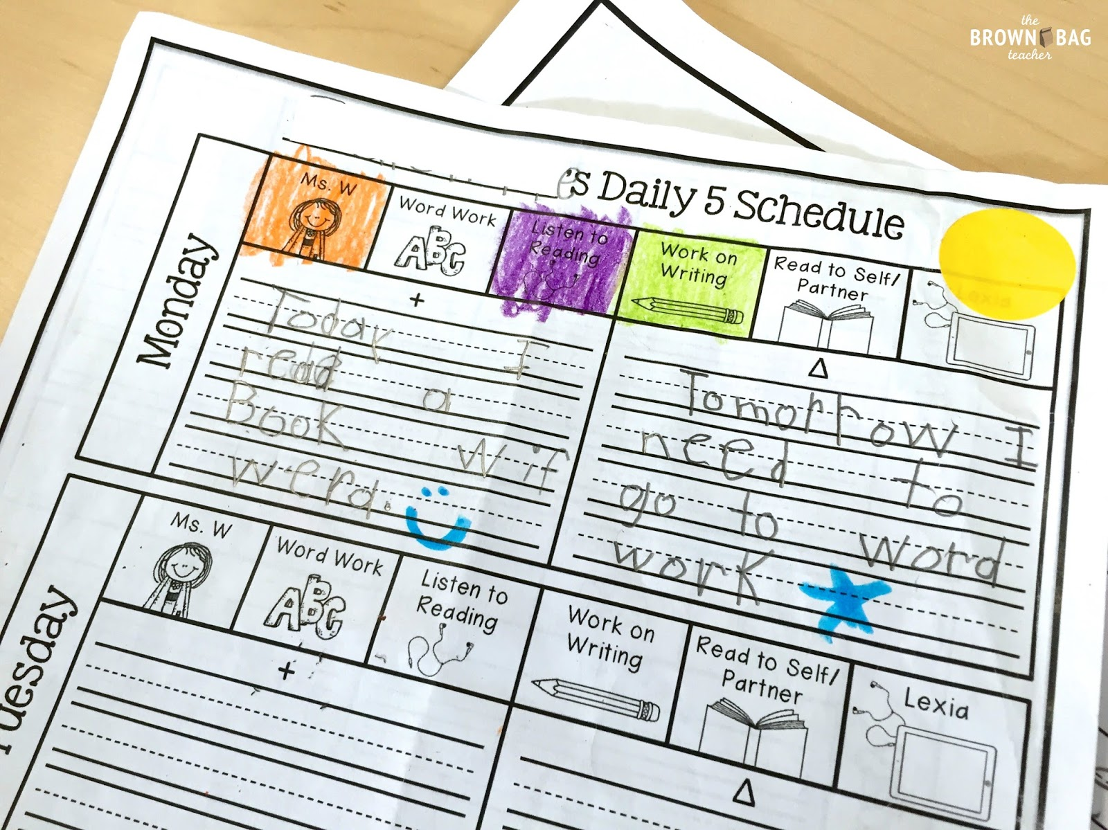 1st Grade Schedule: A Day in the Life - The Brown Bag Teacher