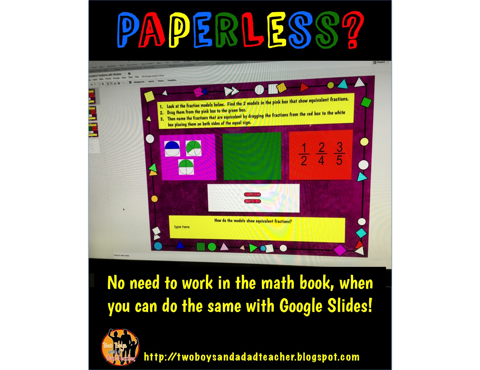 google slides is the future paperless two boys and a dad