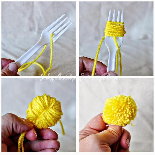 yarn dandelion pom pom