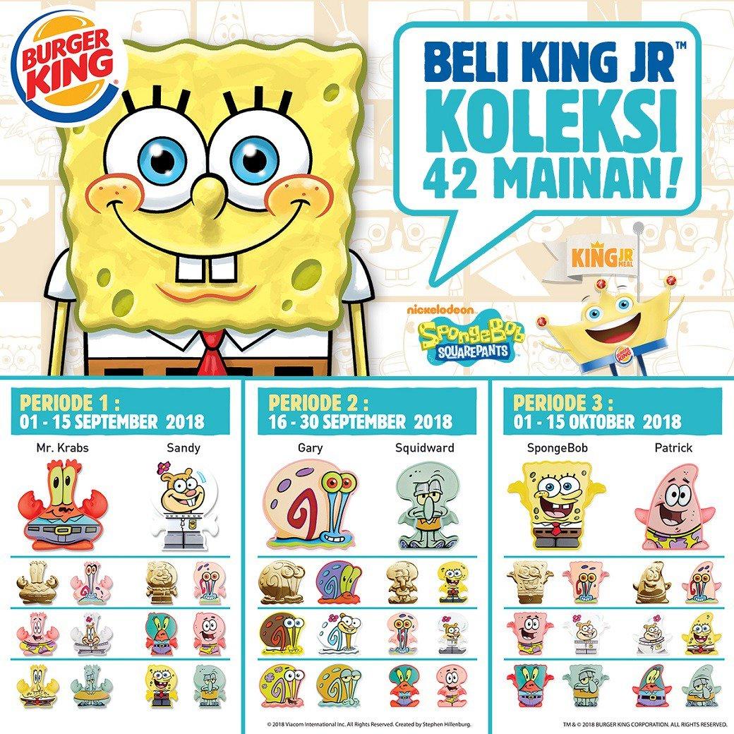 BurgerKing - Promo Paket King Jr Bisa Koleksi Mainan Spongebob Squarepants