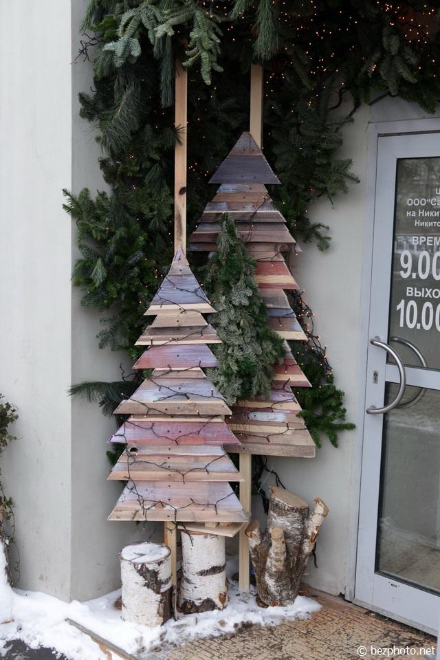 новогоднее оформление витрин фото