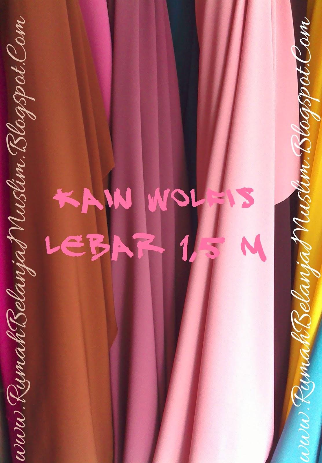 bahan kain wolfis