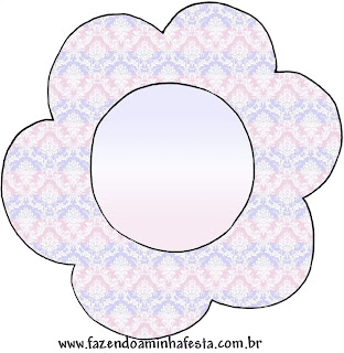 Light Blue, Lilac and Pink:  Free printable Toppers for Cupcakes or food