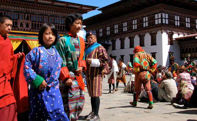 www.xvlor.com Tashichho Dzong is throne and office of King Bhutan in Thimphu City