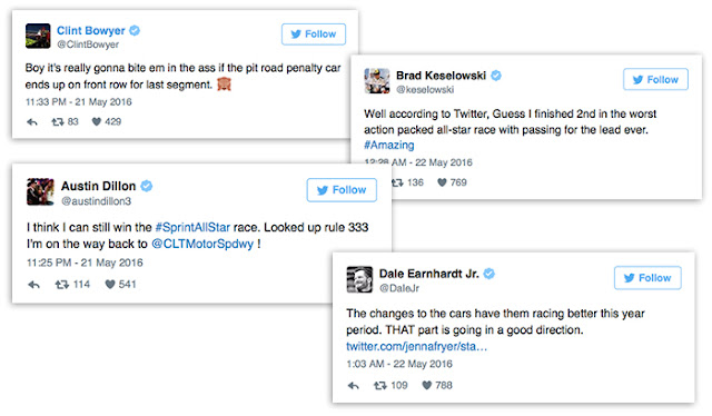 Drivers react to the race