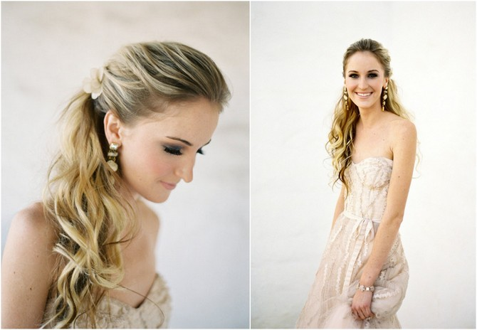 Half Up Half Down Wedding Hairstyles: Wedding Dresses For Lifetime: Half Up, Half Down--wedding
