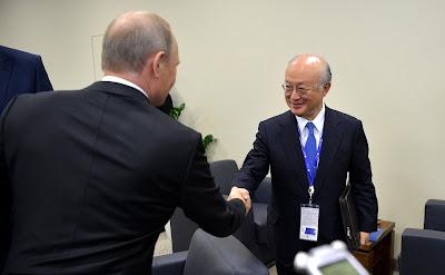 Vladimir Putin, Yukiya Amano.