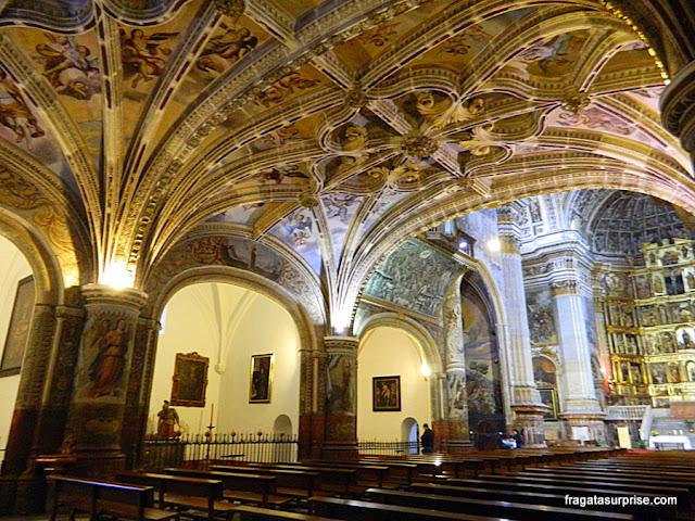 Detalhe da decoração da Igreja do Mosteiro de San Jerónimo, em Granada