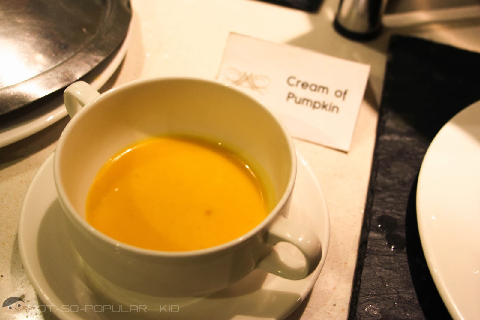 Freshly Made Cream of Pumpkin Soup
