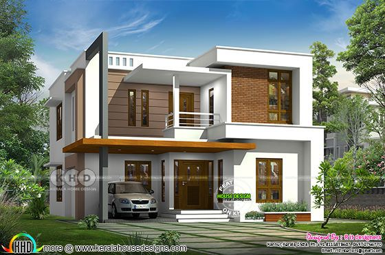 3 bedroom 2133 square feet box type home plan