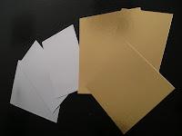 cartón oro plata