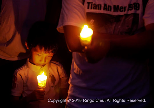 20180604 A candlelight vigil marks 29th anniversary of June 4 Tiananmen Square Massacre