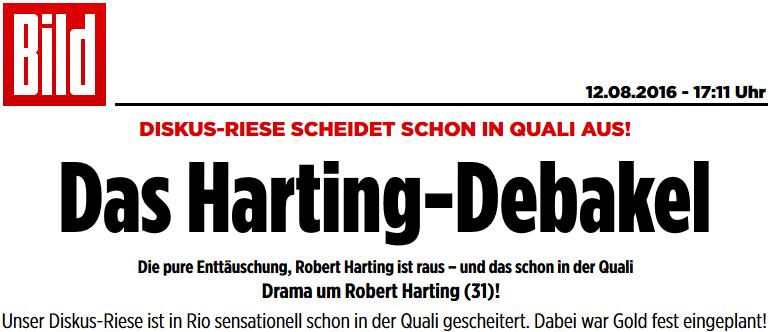 Das Harting-Debakel: Die pure Enttäuschung, Robert Harting ist sensationell schon in der Quali gescheitert. Dabei war Gold eingeplant