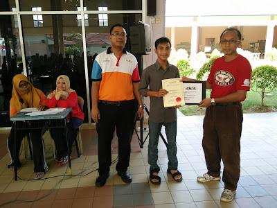 Tempat ke 4 Kategori Lelaki Kejohanan Catur Rapid Terbuka PSIS