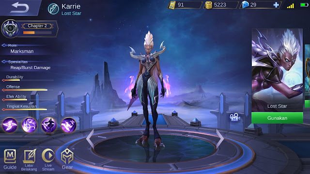 Marksman Terkuat di Mobile Legends Season 11 Karrie