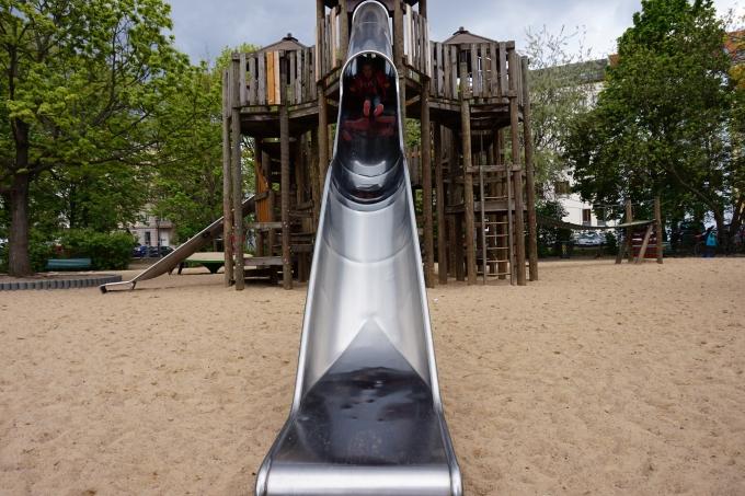 Berliinissä lapsen kanssa - Arkonaplatz ehkä paras leikkipaikka!