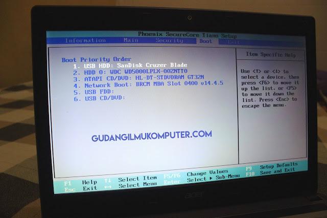 Cara Setting Bios Agar Bisa Digunakan Untuk Instal windows Menggunakan Flashdisk
