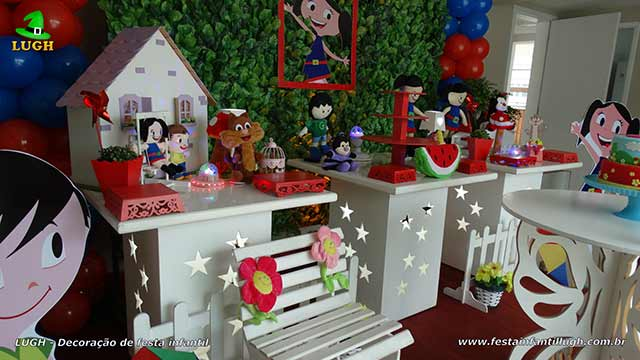 Decoração mesa aniversário tema Show da Luna - Festa infantil