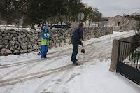 snijeg Gornji Humacsnije slike otok Brač Online