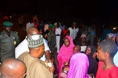 Photos: Governor Shettima visits scene of foiled Boko Haram attack in Maiduguri