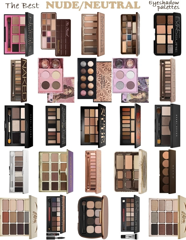 The Best NUDE/NEUTRAL Eyeshadow Palettes EVER