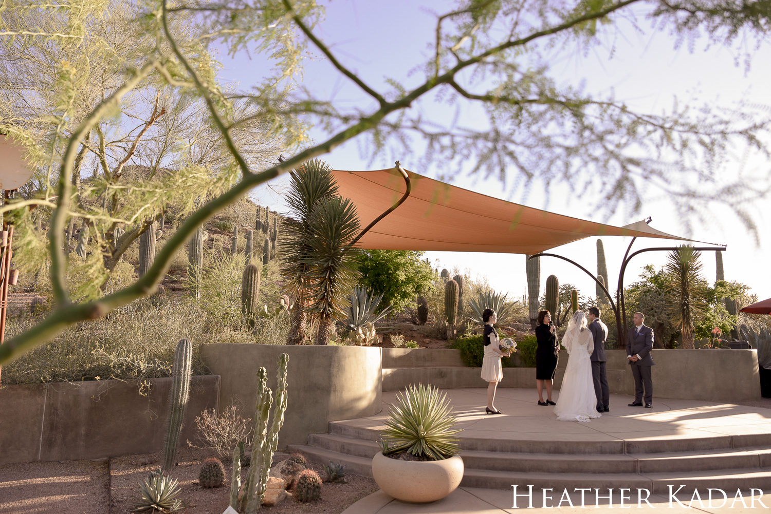 Phoenix Wedding at the Desert Botanical Garden