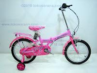 1 Sepeda Lipat Anak FAMILY VIOLET 16 Inci