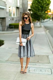 model rok  A-Line Skirt