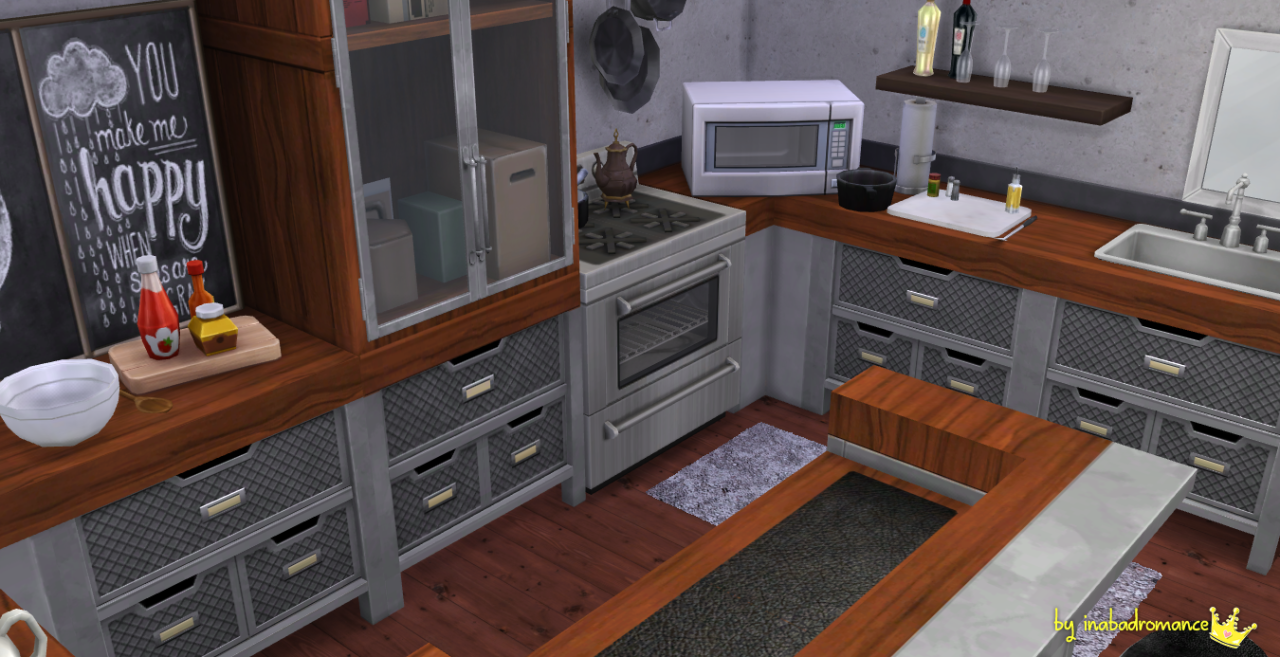 Sims Blog Kitchen Bar Recolors Inabadromance