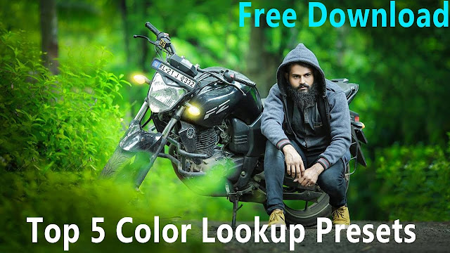 Download free top 5 color lookup, 3D LUTs presets for Photoshop CC