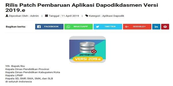 Dapodikdasmen: Download Dapodik Online 2019