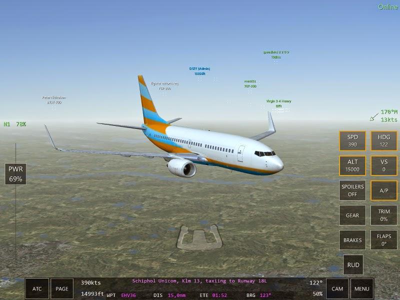 B747 scènes du jeu de simulation de pilotage d'avions Infinite Flight