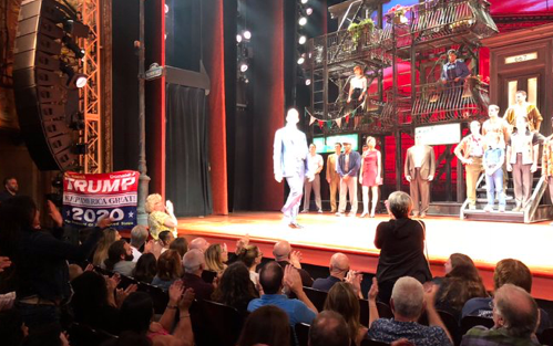 De Niro's Musical Gets Interrupted by Trump Supporter Displaying 'Keep America Great' Flag