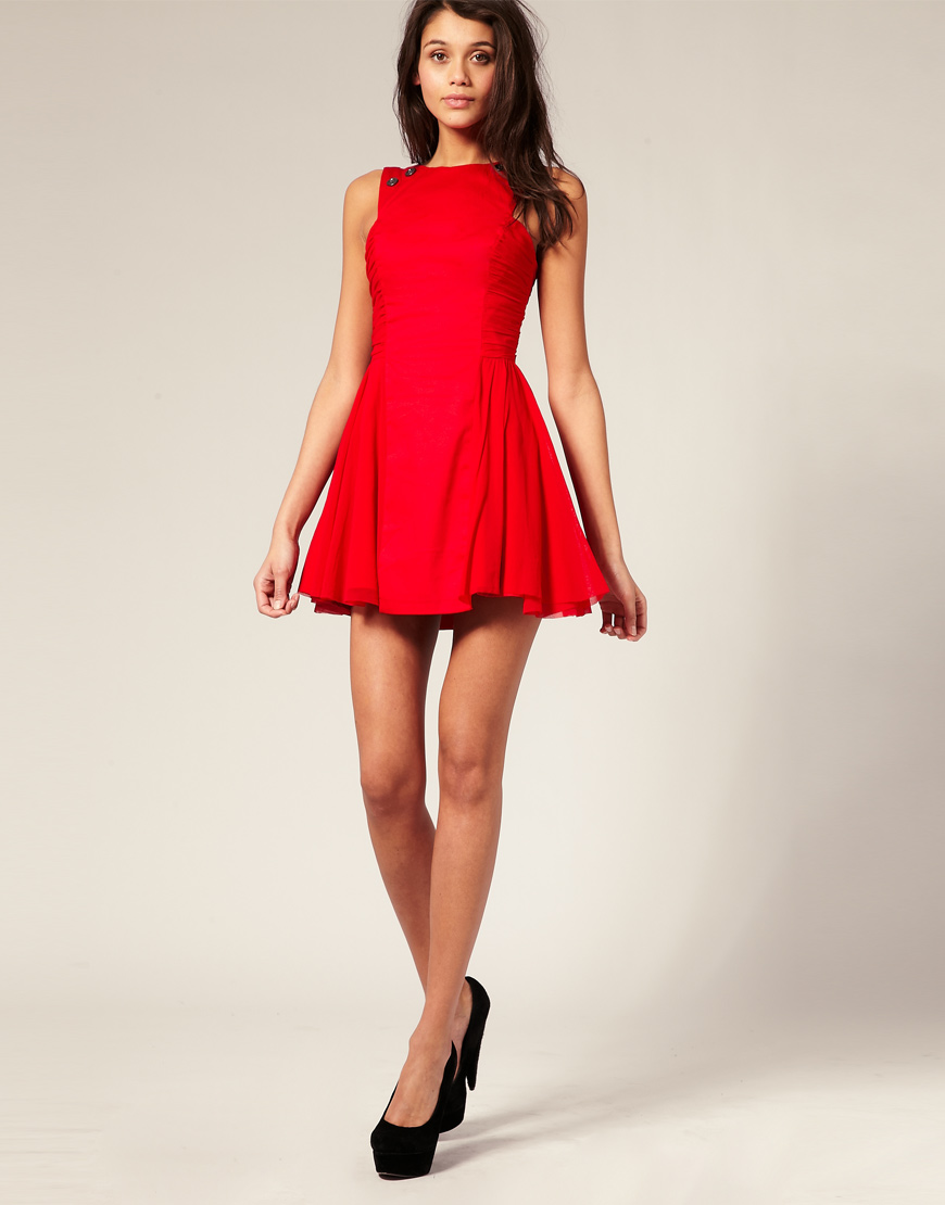 River Island Red Skater Dress