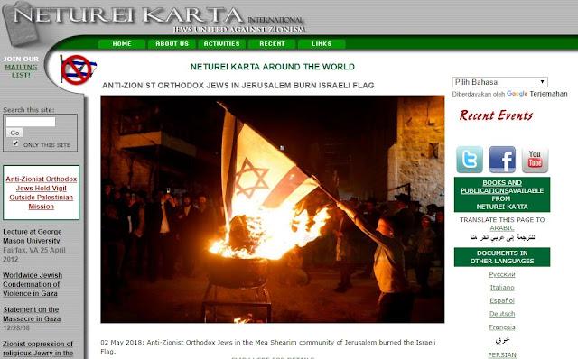 seorang yahudi membakar bendera israel