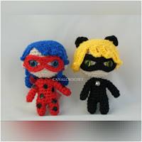 http://amigurumislandia.blogspot.com.ar/2018/04/amigurumi-ladybug-y-cat-noir-canal-crochet.html