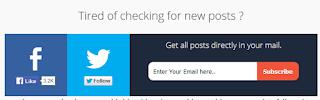 Cara membuat form berlangganan artikel dibawah postingan plus sosial media
