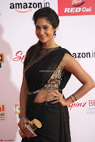 Sindhu looks fabulous in Black Saree designer choli at Mirchi Music Awards South 2017 ~  Exclusive Celebrities Galleries 046.JPG