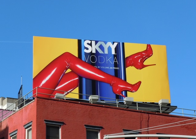 Skyy Vodka heels NYC billboard