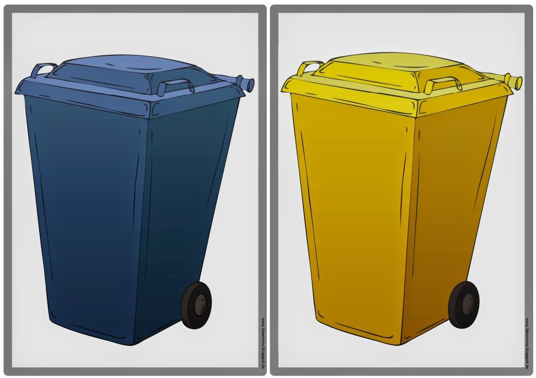 "Ideenreise Tafelmaterial zum Thema ""MüllRecycling"""