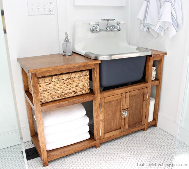 diy sink vanity free plans