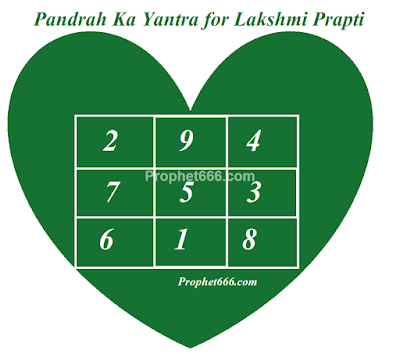 Pandrah Ka Yantra for Money and Wish Fulfilment