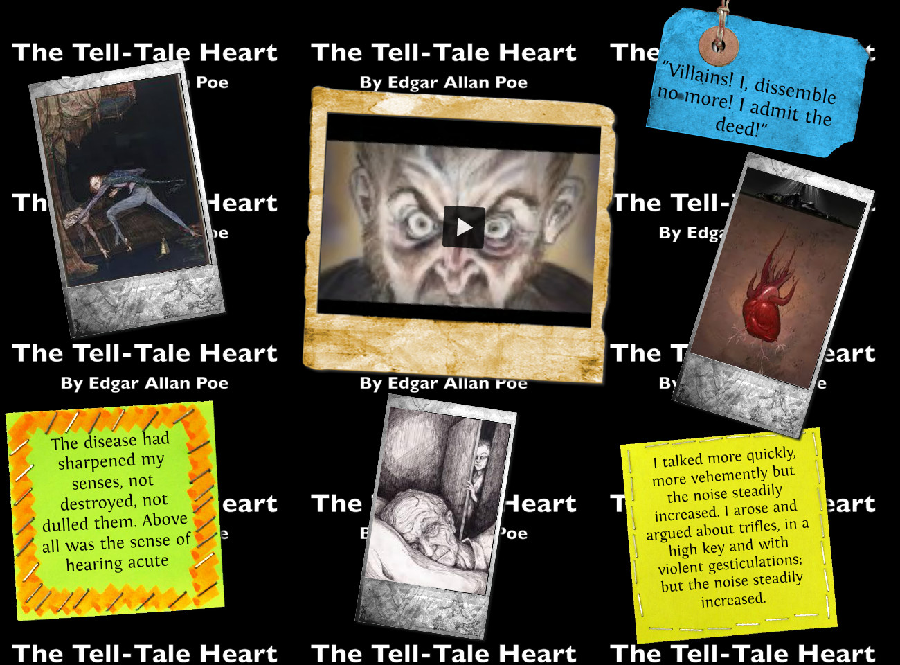Edgar Allan Poe In Secondary School The Tell Tale Heart