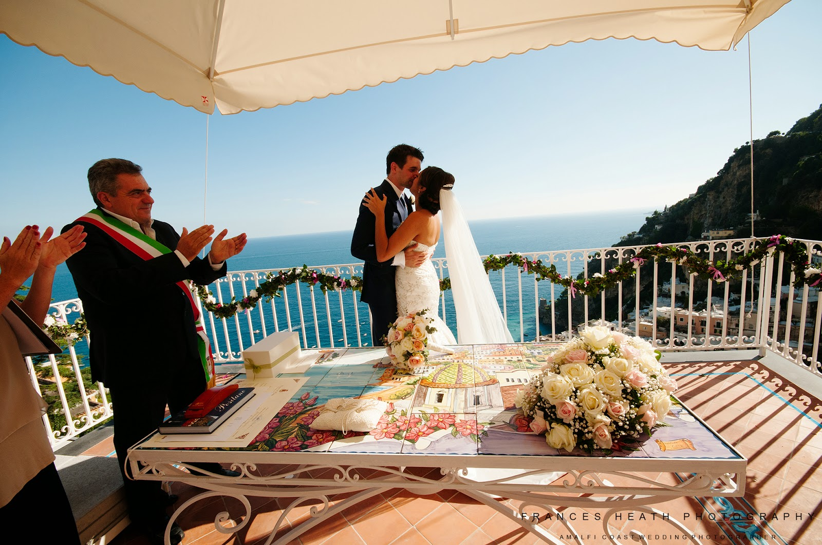 Wedding ceremony Positano Italy