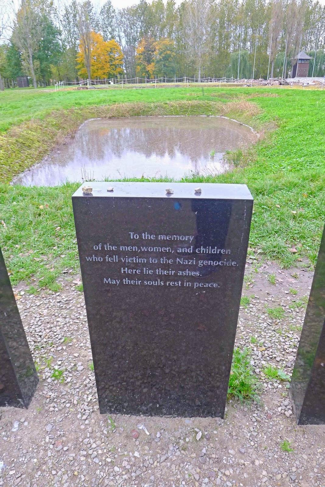 Auschwitz Birkenau Pond Full of Ash