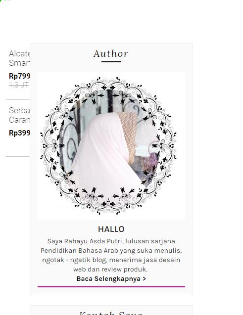 Cara Membuat Profil About Me Keren di Blogspot