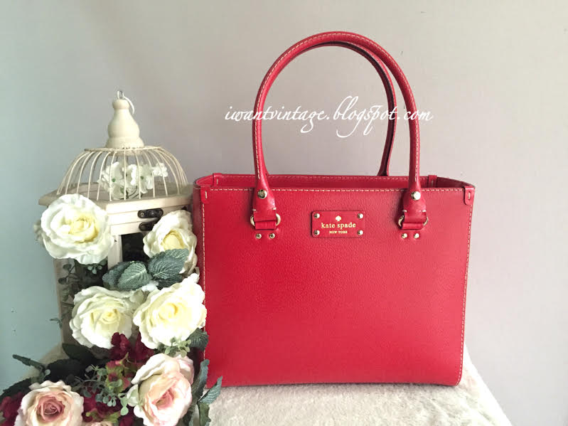 Kate Spade Wellesley Quinn Tote Geranium Red