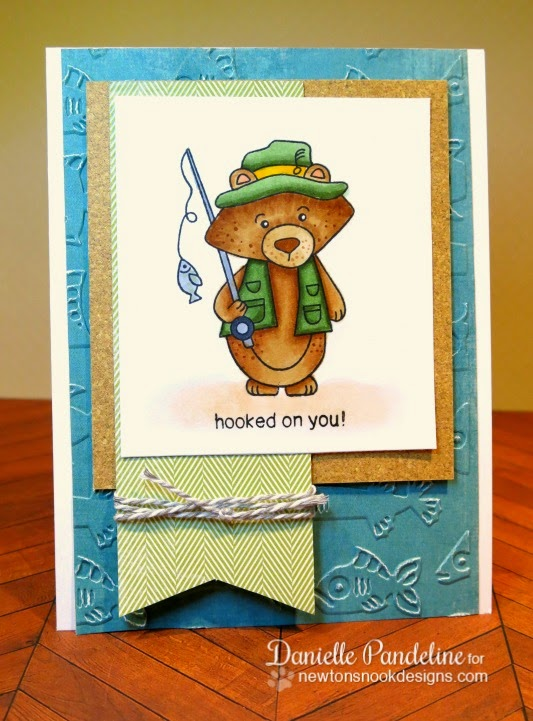 I'm hooked on you | featuring Newton's Nook Designs Stamps | created by Danielle Pandeline